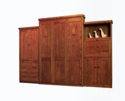 Custom Built USA HAND Made to Order QUEEN Wall Bed Solid Wood Murphy Bed $2599.99