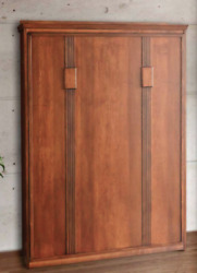 Custom Built USA HAND Made to Order FULL Wall Bed Solid Wood Murphy Bed $2399.99