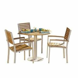 Oxford Garden Travira Natural Teakwood 8-Piece Bistro Set with 36-Inch Table