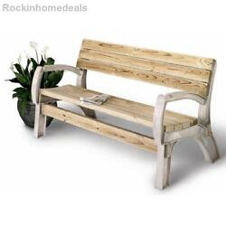 Bench Chair Kit Any Size Park Memorial Patio Seat Outside Garden Backdoor Yard