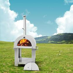 Stainless Steel Pizza Oven BBQ Grill Wood Burning Heater Outdoor Patio O4X2