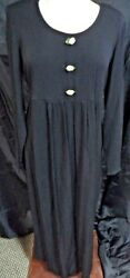 TAKE NINE BLACK LONG MATERNITY DRESS TIEBACK SIZE SMALL $13.99