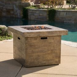 Propane Fire Pit Outdoor Gas Square Pits Patio Fireplace Yard Heater Heating