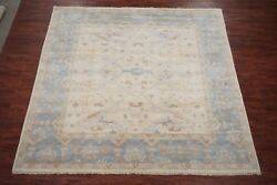 10X10 Square Oushak Area Rug Veg Dyed Hand-Knotted Wool Carpet (10.2 x 10.2)