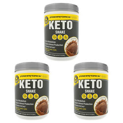 3X PRIMAFORCE KETO SHAKE CHOCOLATE MEAL REPLACEMENT SHAKES GLUTEN FREE POWDER