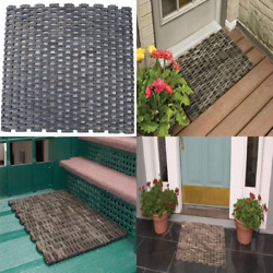 Durable Dura Rug Recycled Fabric Tire Link Outdoor Entrance Mat 24