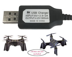 USB Charger Cable Sharper Image Quadcopter DX 1 Micro Drone $8.50