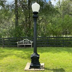 Rams Head Pole Light Commercial Outdoor Vintage Style 87 inches Tall