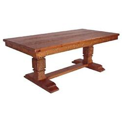 Southwest Style Small Dining Kitchen Table Rustic Distressed Natural Brown Wood