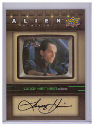 2016 Upper Deck UD Alien Anthology Auto LANCE HENRIKSON Bishop AUTOGRAPH SA-LH