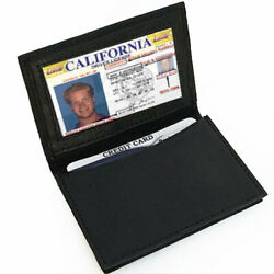 Black Men#x27;s Leather Bifold Window ID Thin Credit Cards Holder Thin Wallet $10.22