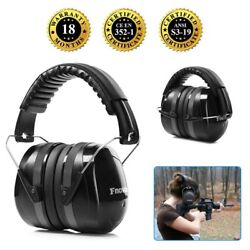 34dB Ear Muffs for Shooters Industrial Ear Protection Adjustable Headband Black