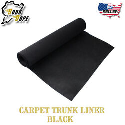 Bass Boat Marine Black Carpet 6ft x 8ft Decorate Interior Floor Replace Cut Pile