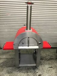 NEW Outdoor Wood Fired Pizza Oven w Built-In Cart NXR #8451 Commercial Bake