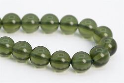 8MM Genuine Natural Moldavite Meteorite AAA Czech Republic Round Loose Beads 4