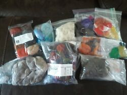 Needle Felting Wool Lot mixed lot of new and used - fine wool products