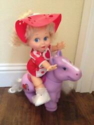 🔴 Large My Little Pony type horse for Cabbage Patch or Galoob Baby Face Dolls