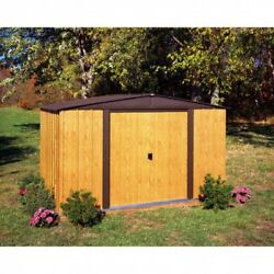Outdoor Storage Shed Backyard Garden Yard Tools 6 x 8 Ft Metal Storage Building