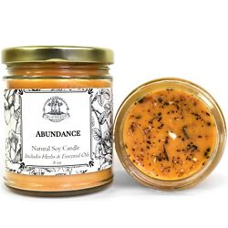 Abundance Soy Candle for Money Love Prosperity Success Spell Wiccan Pagan Hoodoo $14.50
