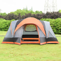 Portable 8 Person Automatic Pop Up Family Tent Easy Set-up Camping Hiking W Bag