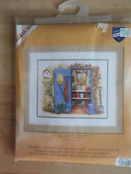 NIP Vervaco - My Garden Shed - Counted Cross Stitch Kit Potter's Bench Floral