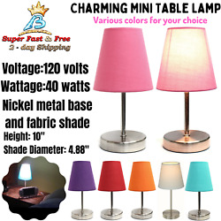 Mini Table Lamp Living Room Lamps Small Contemporary Desk Table Home Lighting $20.47