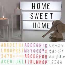 For A4 Cinematic Light Up Sign Box Cinema LED Letter Home Party Wedding Decor