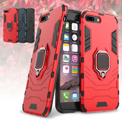 For iPhone 7 Plus 8Plus Shockproof Ring Stand Mount Rugged Hybrid Case Cover