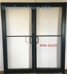 Bronze Commercial Storefront Door pair w GLASS 6#x27;0 x 7#x27;0