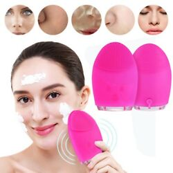 Electric Soft Silicone Clean Facial Cleansing Brush Super Face Washing Machine $10.59