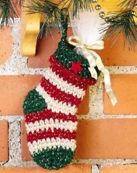 ADORABLE Country Mini Stocking Crochet Pattern INSTRUCTIONS ONLY $2.00