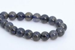 5-6MM Genuine Natural Iolite Beads South Africa Grade A+ Round Loose Beads 7.5