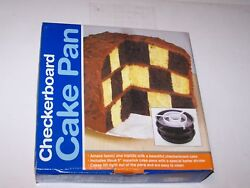 NIP new Kitchen Collections Checkerboard Cake Pan set 3 pans divider instruction $4.99