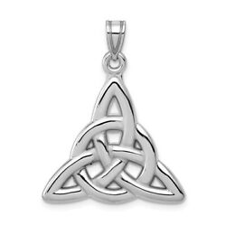 14K Yellow Or White Gold Polished Celtic Trinity Knot Pendant