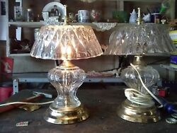 crystal lamps $30.00