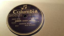 NORMAN ALLIN SAMSON HONOUR AND ARMS & QUEEN OF SHEBA SHE ALONE COLUMBIA DX125