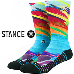 STANCE CAMILLA FUSION ATHLETIC BREATHABLE MOISTURE WICKING CREW SOCKS $15.99