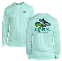 Long Sleeve Microfiber UPF Bimini Big Game Fishing Shirt Seafoam $19.99
