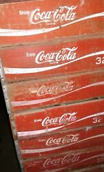 50 Vintage 32oz Coke Coca Cola Wood Soda Pop Crates