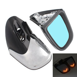 Motor LED Turn Signal Rearview Side Mirror For BMW K1200 LT K1200M K1200LT 99-08