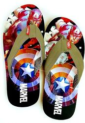 AVENGERS Captain America Mens Flip Flops M Size 9 10 New with tags $12.99
