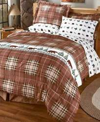 7 piece Kodiak Sheet and Comforter Sets bedroom lodge decor forest queen sized