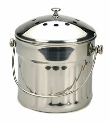 RSVP Endurance Stainless Steel Jumbo Compost Pail 1 1 2 Gallon $75.62