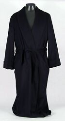 $3650 NWT - LORO PIANA 100% CASHMERE Robe - Blue - M Medium