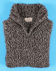 FANTASTIC HERMES 100% CASHMERE Chunky 12 Zip Sweater - XL 2XL
