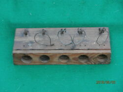 ANTIQUE 5 HOLE GUILLOTINE CHOKER WOOD AND WIRE MOUSE TRAP