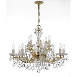 Crystorama Maria Theresa 12 Lt Crystal Gold Chandelier - 4479-GD-CL-S $2,147.00