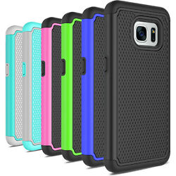 For Samsung Galaxy S7S7 Edge Case Hybrid Shockproof PC Silicone Hard Case Cover