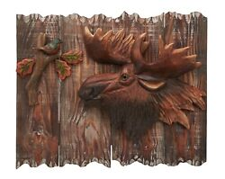 Moose Wood Carving 3D Wall Art Cabin Rustic Decor $79.95