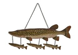 Northern Pike Wood Carving Wall Art Cabin Rustic Decor $39.95
